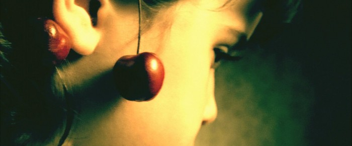 Lips with cherry flavour