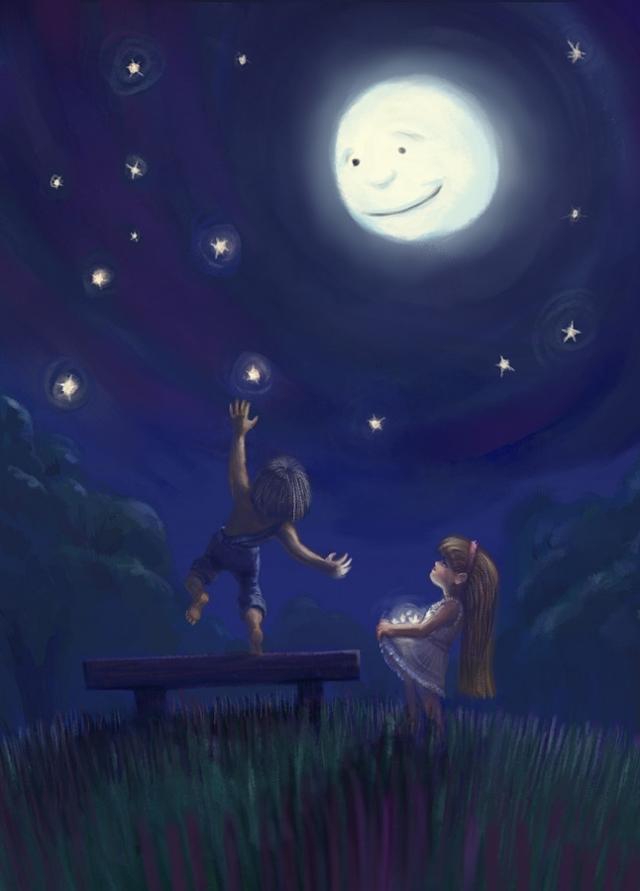 cuplu la adunat de stele