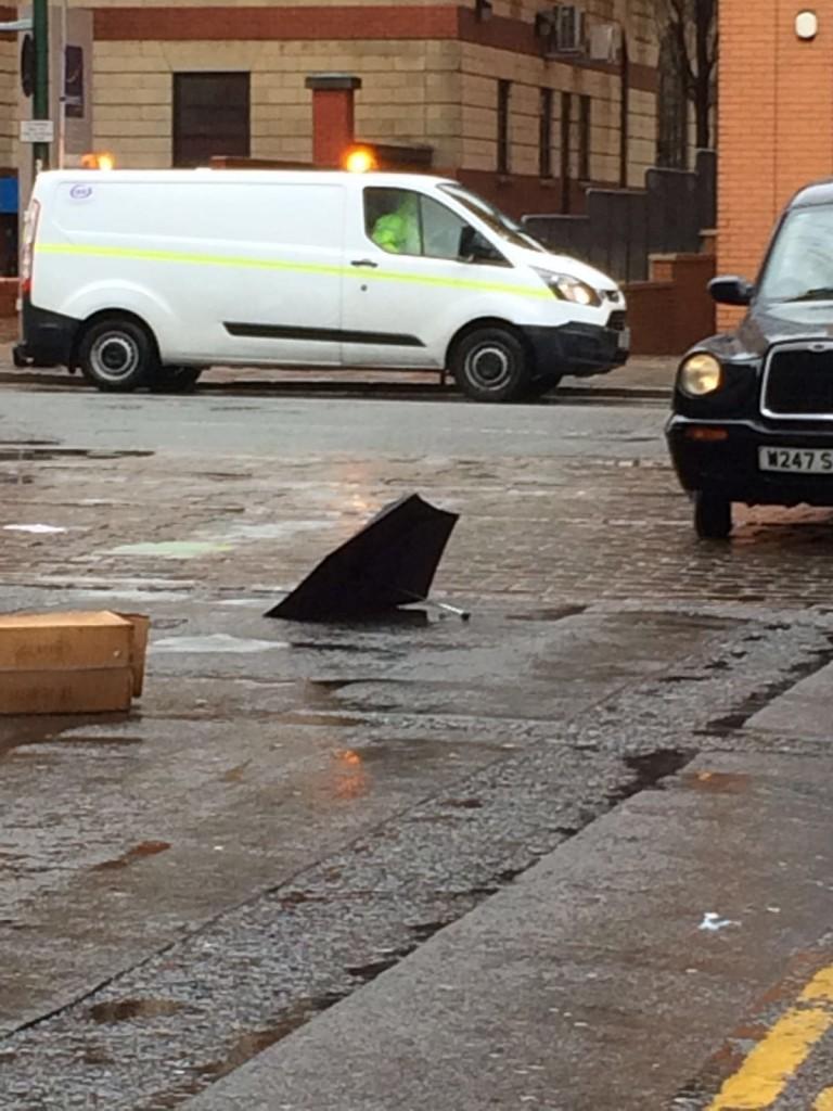 Rain and wind in Birmingham