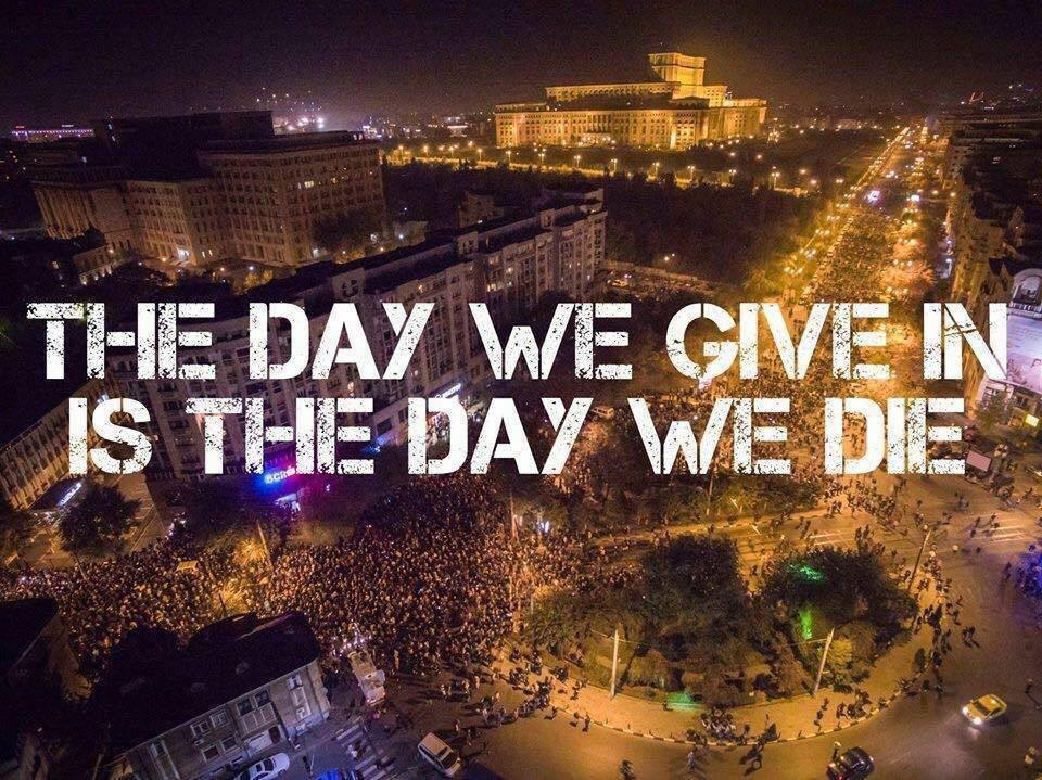 The day we give in is the day we day colectiv