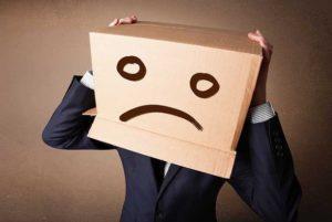 trist si deprimat la job